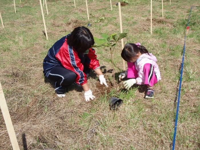 平成24年度 環境リレーションズ研究所 植樹